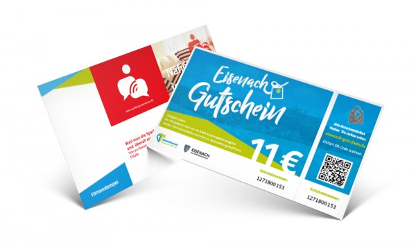 Eisenach Gutschein im Wert von je 11,– €